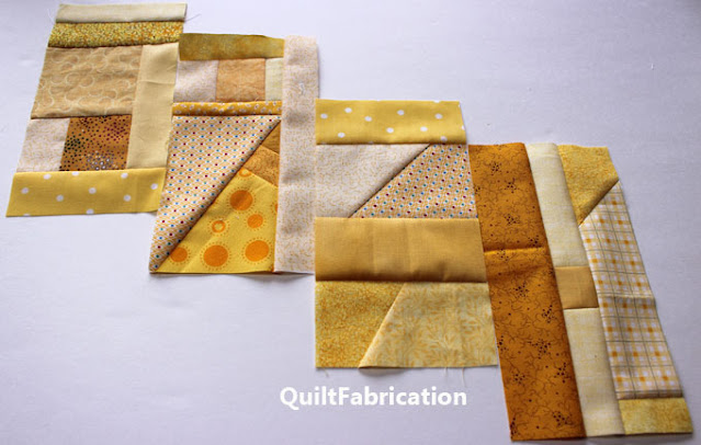 scrap blocks for a rainbow Celilo quilt by QuiltFabrication