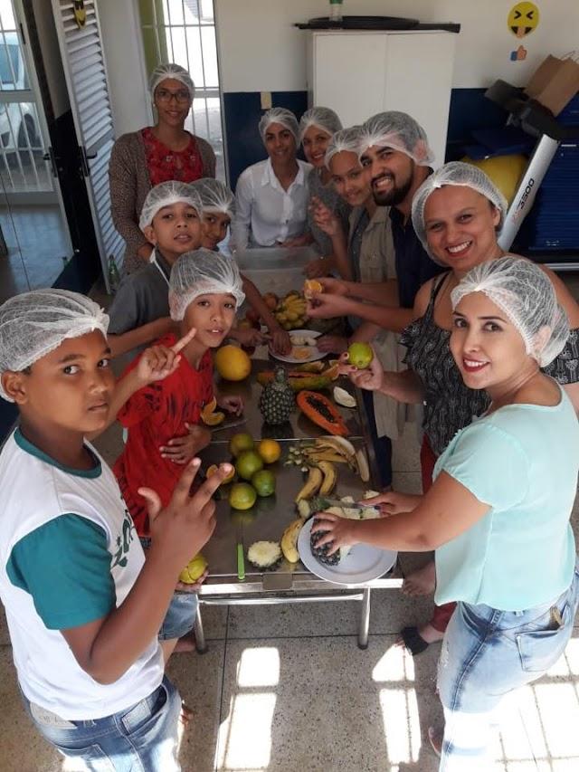 Senador Canedo: Academia de Saúde leva dicas nutricionais a Colônia de Férias