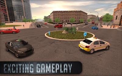 Tampilan Game Taxi Simulator
