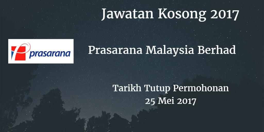 Jawatan Kosong Prasarana Malaysia Berhad 25 Mei 2017