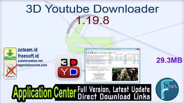3D Youtube Downloader 1.19.8