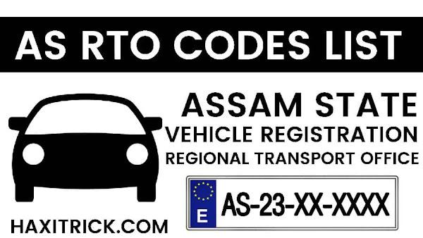 Assam (AS) Vehicle Registration RTO Codes