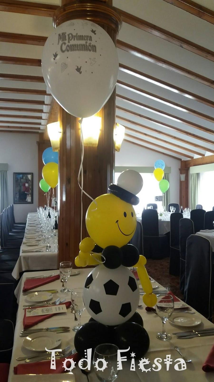 Decoraci n con globos de todo fiesta decoraciones para 1 for Decoracion globos comunion