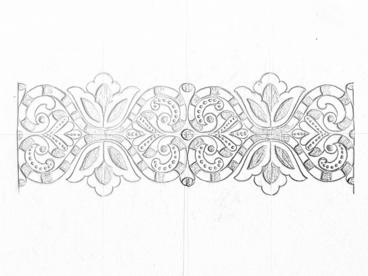 Saree Ka Kinara Drawings Draw Saree Borders Designs On Paper