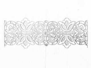 Saree border design drawing for hand emroidery design and machine embroidery design.saree ka kinara Drawings.border design on paper.