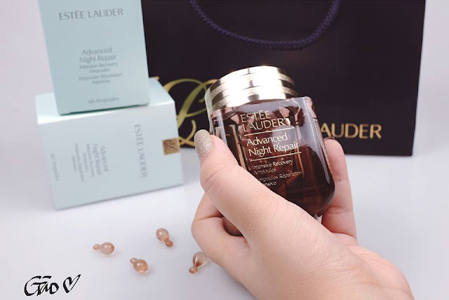 Gào Review Estee Lauder Advanced Night Repair Ampoules, Estee Lauder, Estee Lauder Advanced Night Repair Ampoules, tinh chất estee lauder