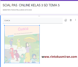 SOAL ONLINE PAS KELAS 3 SD TEMA 5 SEMESTER 2