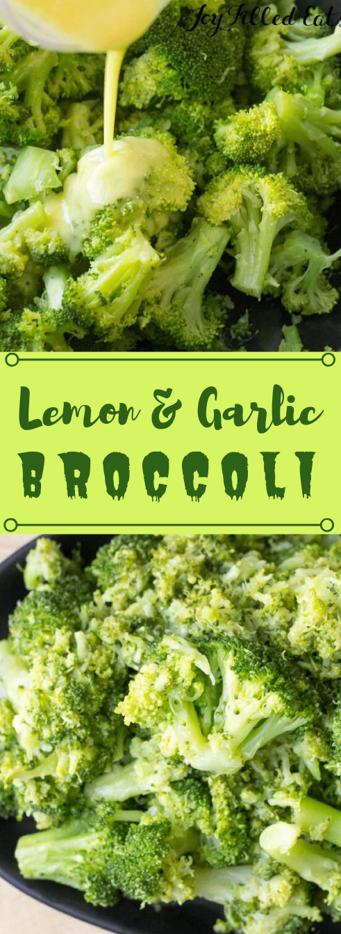 GARLIC BROCCOLI SIDE DISH RECIPE LOW CARB KETO #vegetarian #lowcarb #broccoli #easy #healthyrecipes