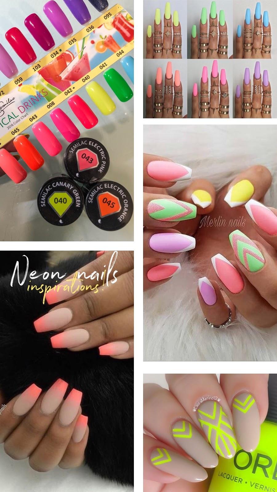 Neonowe Paznokcie Hot Trend W Manicure Na Wiosne 2019 Neonowe