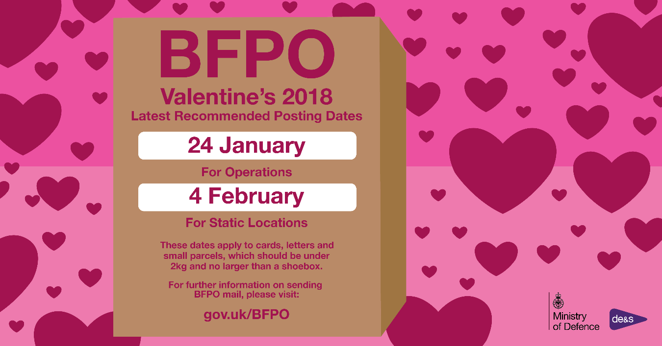 BFPO News: Make Sure Your Valentineu0027s Card Arrives On Time