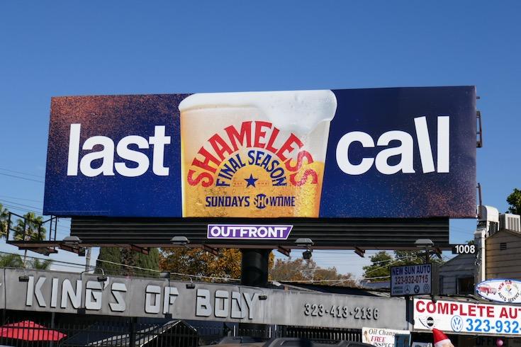 Shameless final season 11 Last call billboard
