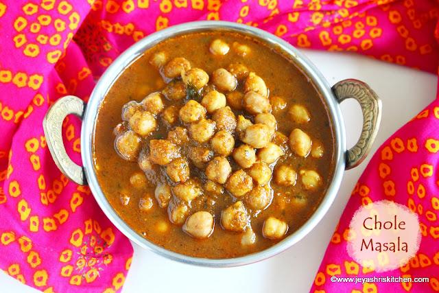 chole masala without onion garlic
