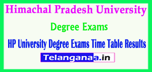 Himachal Pradesh University Degree Exams Time Table Results 2018