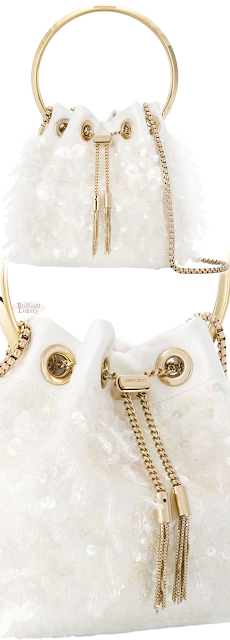 Jimmy Choo White Bon Bon Dumpling Bag #brilliantluxury