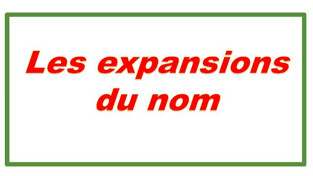 LES EXPANSIONS DU NOM