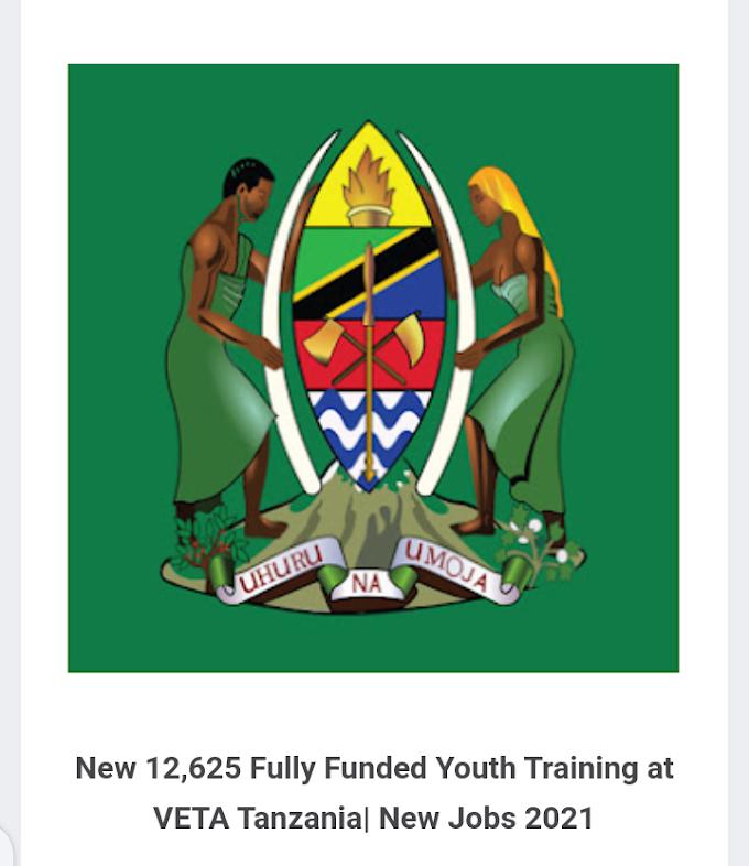 Apply New 12,625 Fully Funded Youth Training at VETA Tanzania| New Jobs 2021