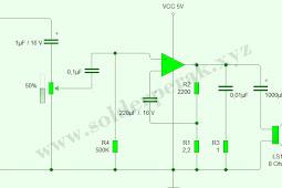 Rangkaian Skematik Power Amplifier Low Watt