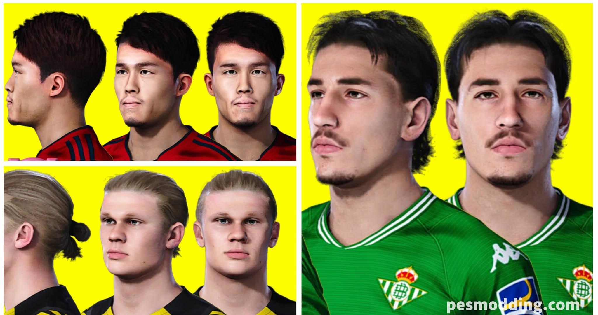PES 2021 Faces - Takehiro Tomiyasu, Hector Bellerin and Erling Haaland