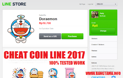 Update!! Trik Line Coin / Point Gratis 2017