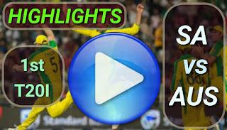 SA vs AUS 1st T20I 2020