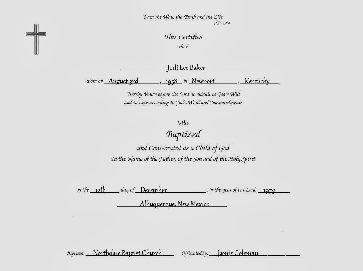 Baptism Certificate Template Word downloads baptisms templates – First Aid Certificate Template