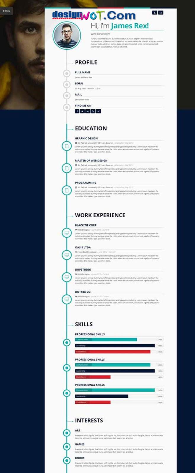 Vertica - WP Resume CV & Portfolio