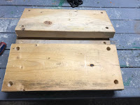 3/4 inch holes drilled