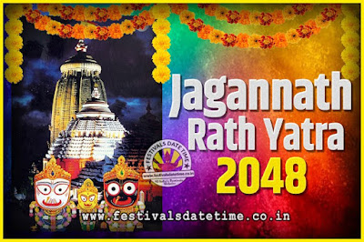 2048 Jagannath Rath Yatra Pooja Date and Time, 2048 Puri Ratha Yatra Calendar