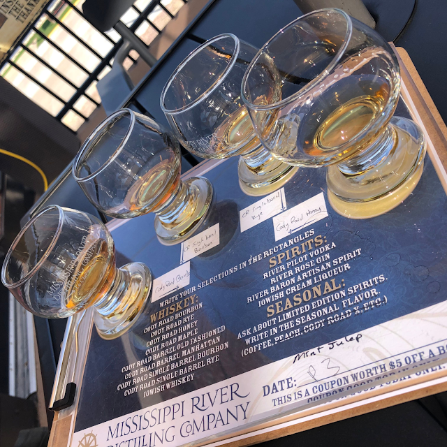 Relaxing while tasting at Mississippi Distilling Company.