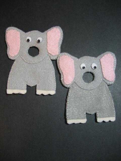Felt Elephant Finger Puppets