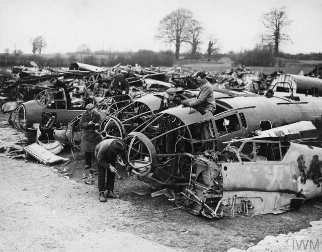 Luftwaffe graveyard in England, 24 February 1942 worldwartwo.filminspector.com