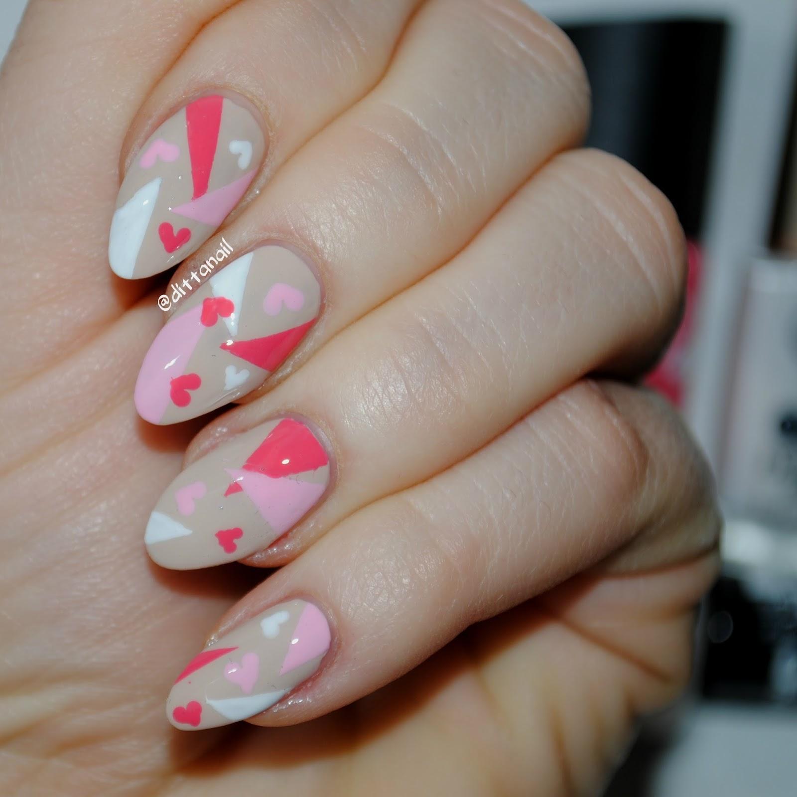 Nail Art February Challenge: Ditta's Nail Design & Art : February's Nails Challenge