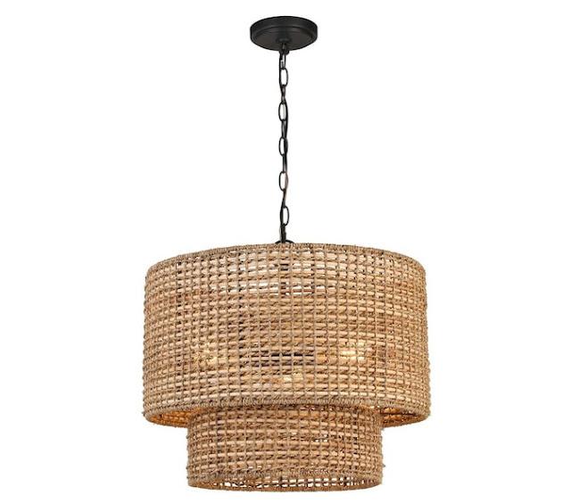 Lowe's rattan basket light