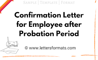 Confirmation Letter format for Employee after Probation Period