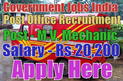 Indian Post Office Recruitment 2017 Department of Posts
