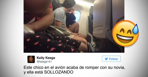 Cortó a su novia en pleno avión y todo Twitter se enteró