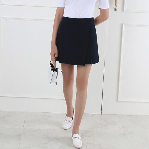 Solid Tone Mini Wrap Skirt
