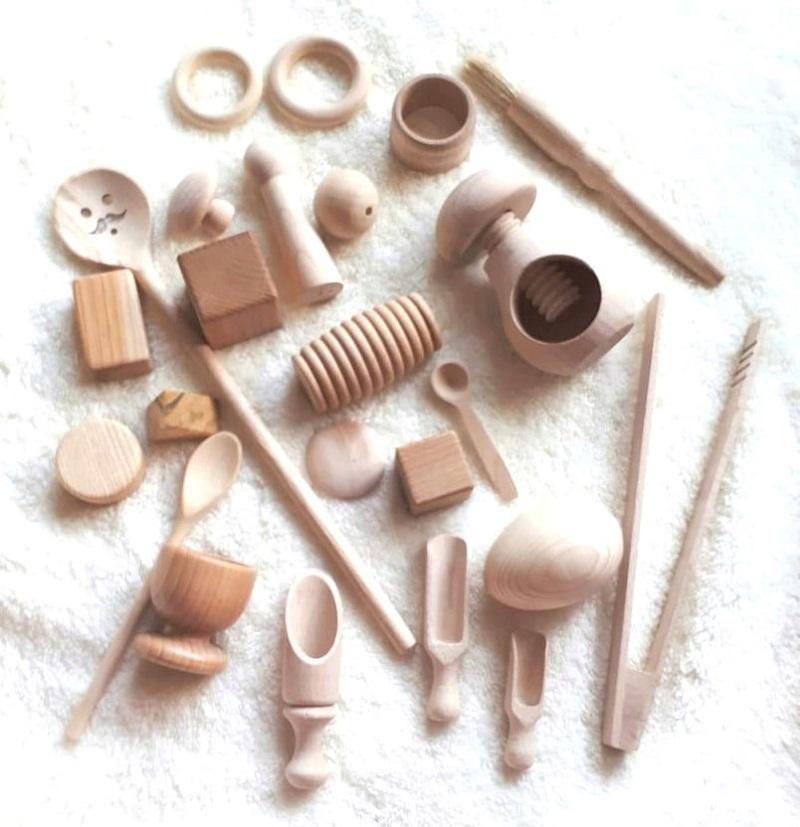 wooden toy montessori advent set
