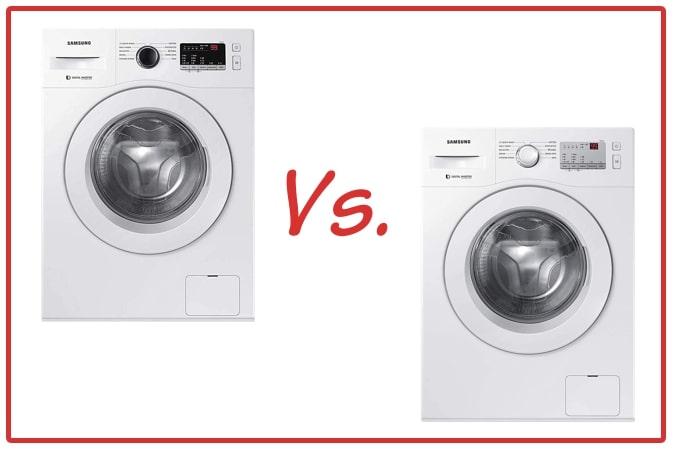 Samsung WW65R20GLSW/TL (left) and Samsung WW60R20GLMA/TL (right) Washing Machine Comparison.