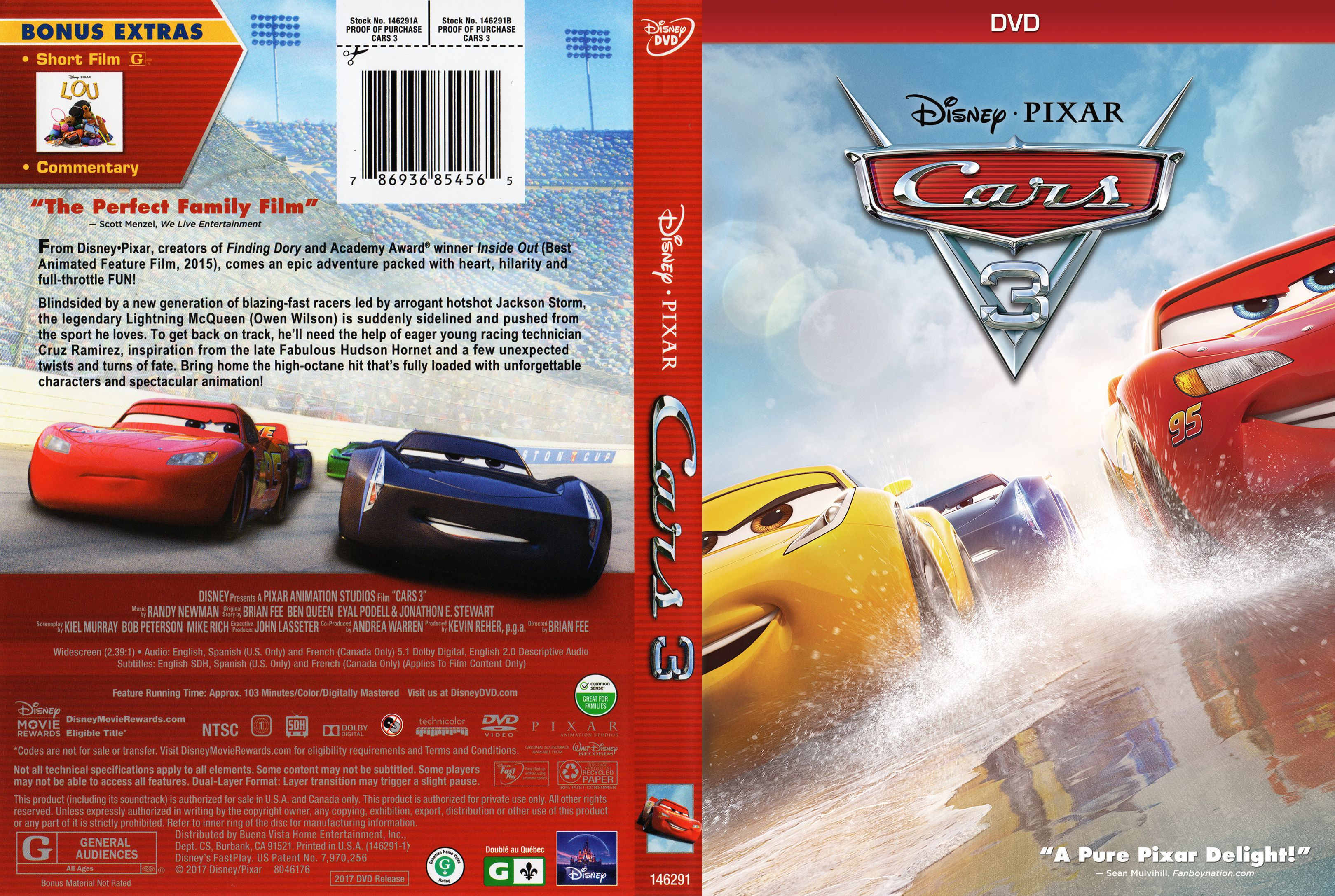 cars 3 dvd cover cover addict dvd bluray covers and movie posters. Black Bedroom Furniture Sets. Home Design Ideas