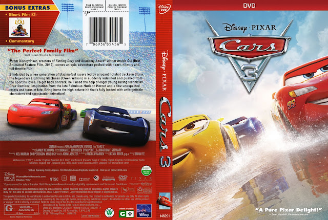 Cars 3 DVD Cover