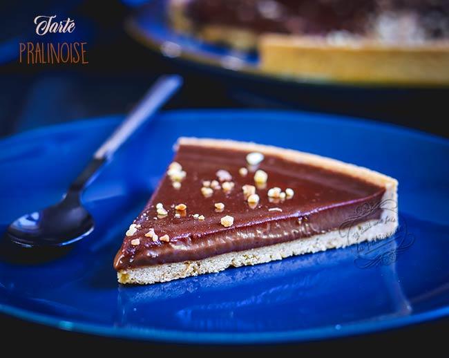tarte pralinoise chocolat
