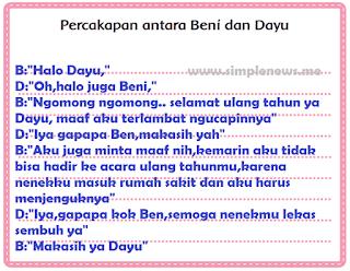 Percakapan antara Beni dan Dayu www.simplenews.me