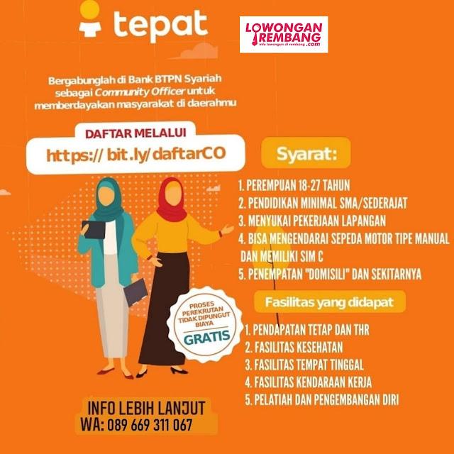 Lowongan Kerja Community Officer BUMN Bank BTPN Syariah Rembang