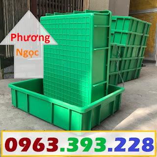 Khay nhựa đặc B9, thùng nhựa đặc B9, thùng nhựa chứa đồ linh kiện, sóng nhựa bít B9