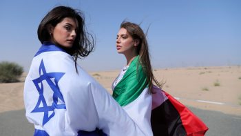 First Photo Shoot Of An Israeli Model May Tager In The Desert Of Dubai