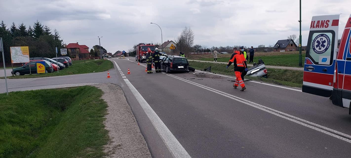Wypadek na drodze mieleckiej w Kosowach [FOTO]