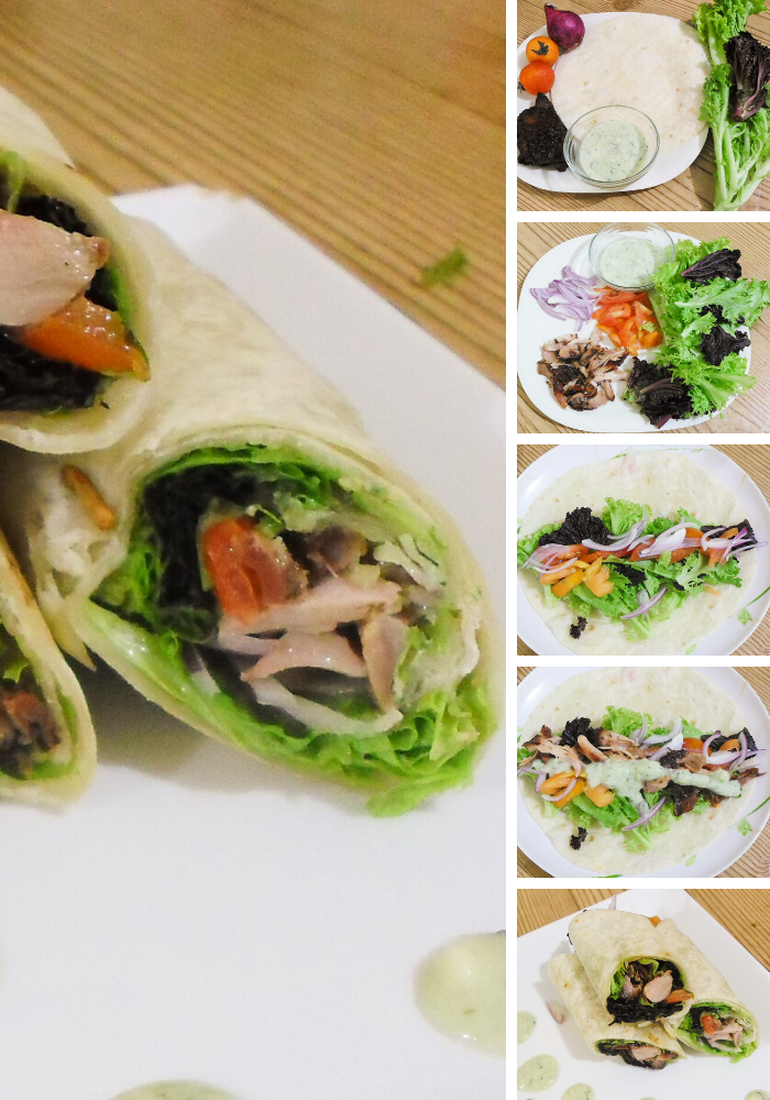 Recipe for quick BBQ chicken wraps - no more wondering what to do with those leftovers during the barbecue season