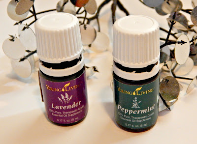 Young Living Essential Oils: lavender and peppermint thehollypaige.blogspot.com