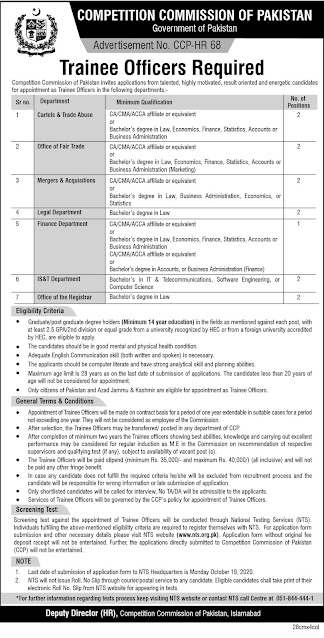 Competition Commission Of Pakistan New Jobs